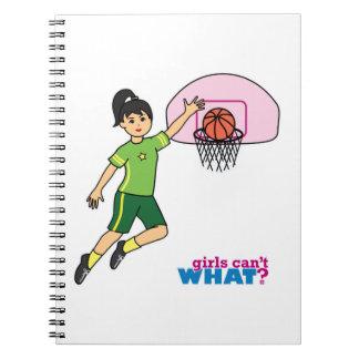 Basketball-girl 2 spiral notebook