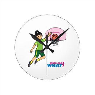 Basketball-girl 2 round clock