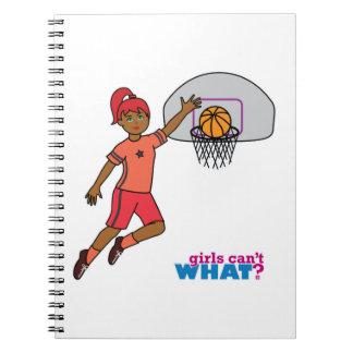 Basketball-girl 3 spiral note book