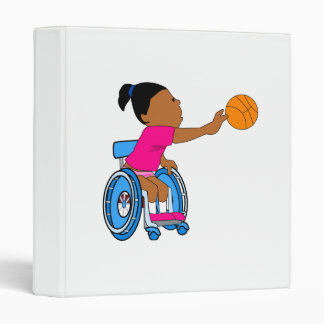 Basketball girl 3 ring binder