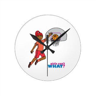 Basketball-girl 3 round clock