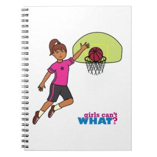 Basketball-girl 4 spiral note books