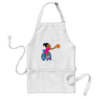 Basketball girl adult apron