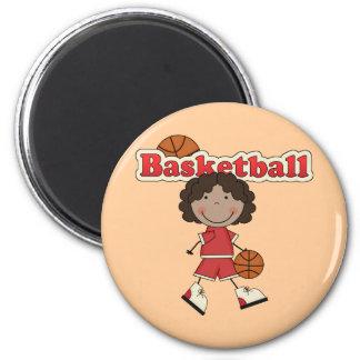 Basketball Girl, African American Magnets