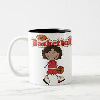 Basketball Girl,African American Two-Tone Coffee Mug