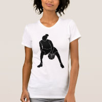 Basketball Girl Black Logo Shirt