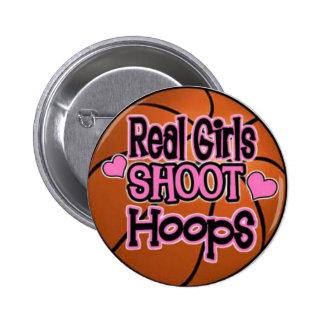 basketball girl button