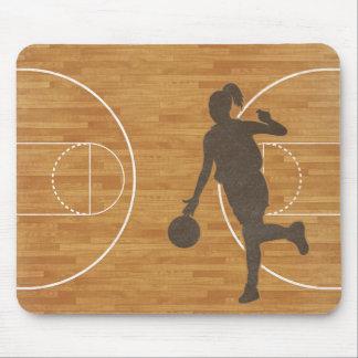 Basketball Girl Court Mousepad Mouse Pad