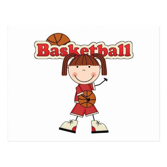 Basketball Girl Postcard