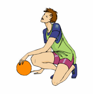 Basketball girl relaxing statuette