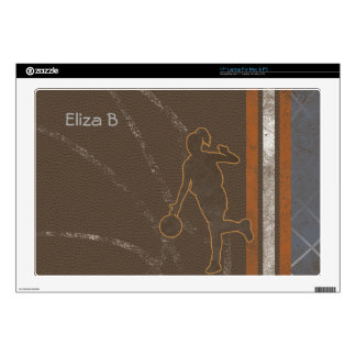 "Basketball Girl Skin 17"" Laptop Skin"
