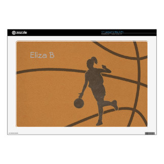 Basketball Girl Skin Laptop Decal