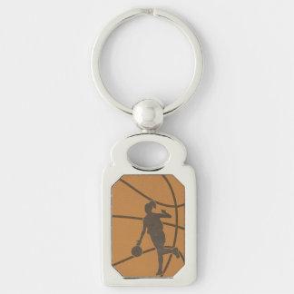 Basketball Girl Sports Woman Photo Key Chain