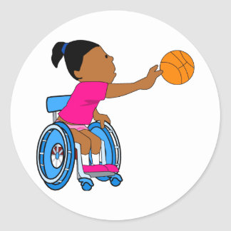 Basketball girl stickers