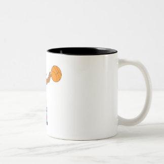 Basketball girl Two-Tone coffee mug