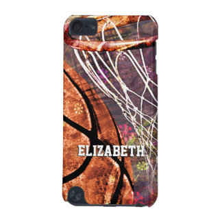 Basketball Girls purple pink her name iPod Touch (5th Generation) Cover