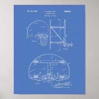Basketball Goal 1944 Patent Art Blueprint Poster