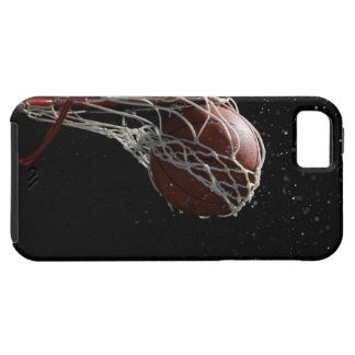 Basketball going through hoop 2 iPhone SE/5/5s case