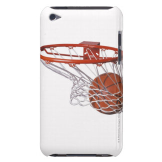Basketball going through hoop barely there iPod cover