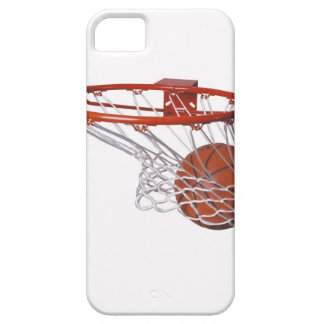 Basketball going through hoop iPhone 5 cases