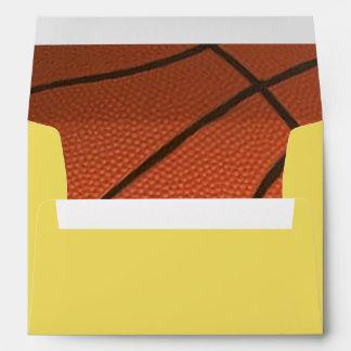 Basketball Golden Personalized Envelope
