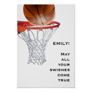 Basketball Good Luck Poster