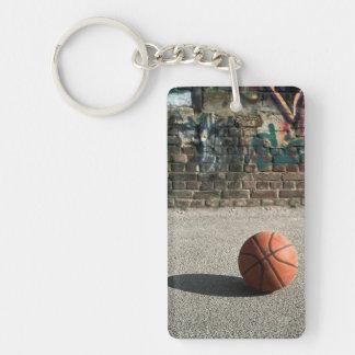 Basketball & Graffiti Keychain