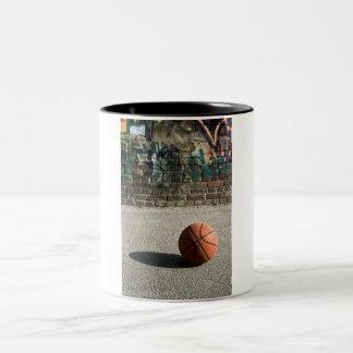 Basketball & Graffiti Two-Tone Coffee Mug