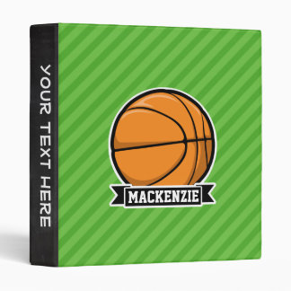 Basketball; Green Stripes Binder
