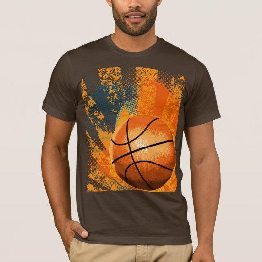basketball grunge tee shirt