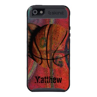 basketball grunge texture covers for iPhone 5