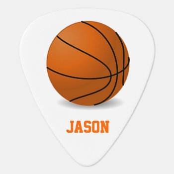 Basketball Guitar Pick by Lilleaf at Zazzle