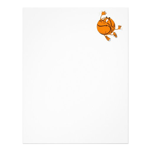 Basketball guy letterhead design