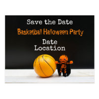 Basketball Halloween Party save the date Postcard