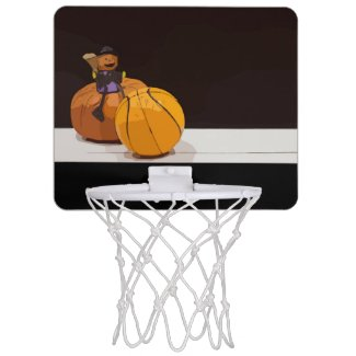 Basketball Halloween with Basketball and ghost Mini Basketball Hoop