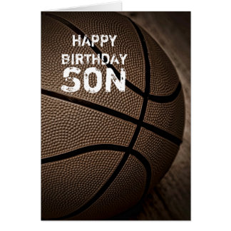 Basketball Happy Birthday Son Card