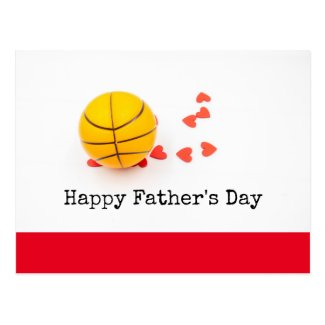 Basketball  Happy Father's Day with love Postcard