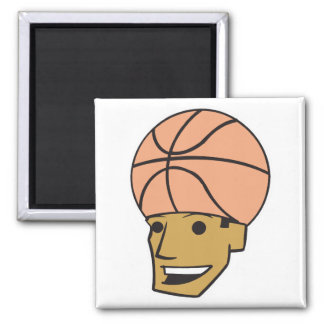 basketball head 2 inch square magnet