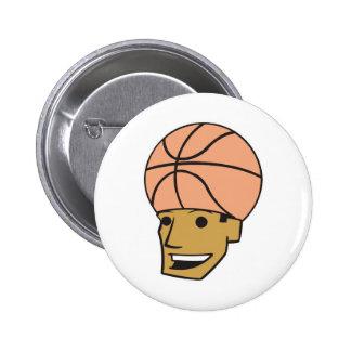 basketball head pinback button
