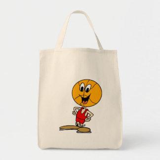 basketball head tote bag