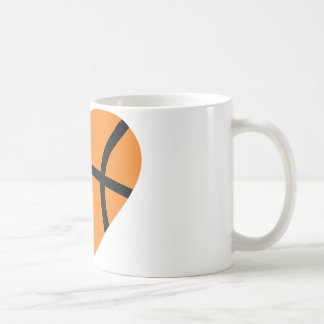 basketball heart coffee mug