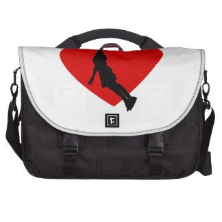 Basketball Heart Laptop Bag