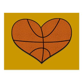 Basketball Heart Postcard
