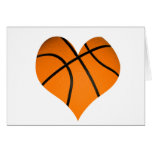 Basketball Heart Shape Greeting Card