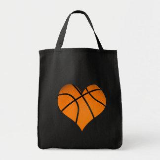 Basketball Heart Shape Tote Bag