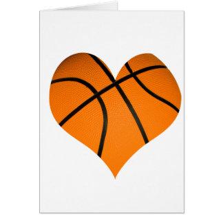 Basketball Heart Shaped Greeting Card