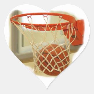 Basketball Heart Sticker