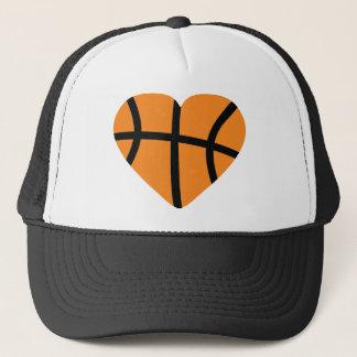 basketball heart trucker hat