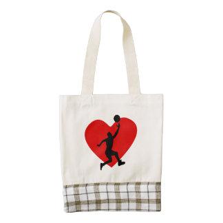 Basketball Heart Zazzle HEART Tote Bag