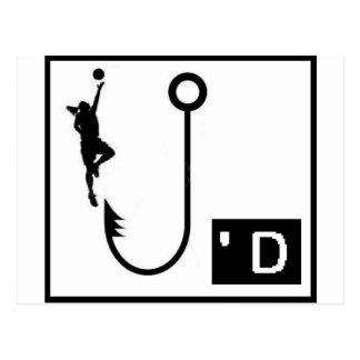 Basketball Hooked Ladies Postcard